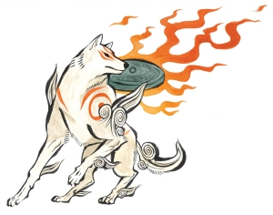 "Amaterasu from the game ""ôkami"" (Photo courtesy of http://okami.wikia.com, all rights reserved by Capcom)"
