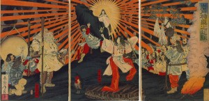 Amaterasu and other Kamis (Photo courtesy of Wikipedia)