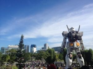 The RX-78-2 Gundam watching over Tokyo