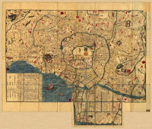 Pocket Map of Edo (Photo courtesy of Wikipedia)