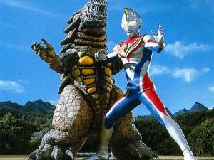 Ultraman Dyna fights Grossyna (Photo courtesy of http://ultra.wikia.com)